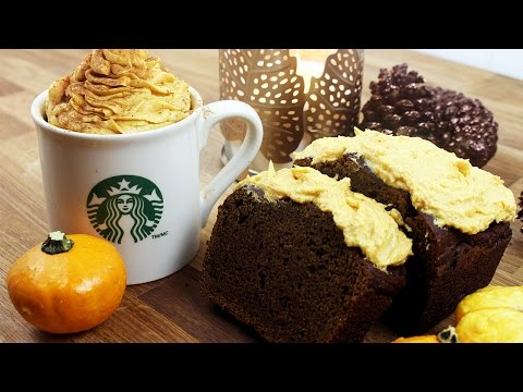 Starbucks Pumpkin Spice Latte Cake | パンプキン スパイス ラテのケーキ