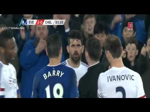 Bukti Rekaman Diego Costa Mengigit Gareth Barry | FA CUP (HD)