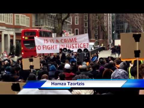 "Hamza Tzortzis ""Free Moazzam Begg"" - London Protest - THE FRAGRANCE OF JUSTICE"