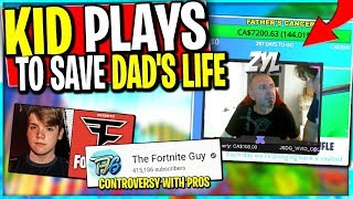 Player Streams to SAVE DAD From Cancer.. Mongraal & The Fortnite Guy Controversy