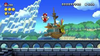 New Super Mario Bros U Deluxe Castle 1 any% 1:22( WORLD RECORD)