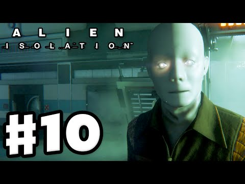 Alien: Isolation - Gameplay Walkthrough Part 10 - Requisition Android! (PC Gameplay with Facecam)
