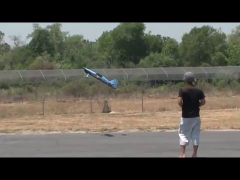 MX-2 Extreme Aerobatic 3D RC Airplane WINDY DAY Flight Review!  www.bananahobby.com!