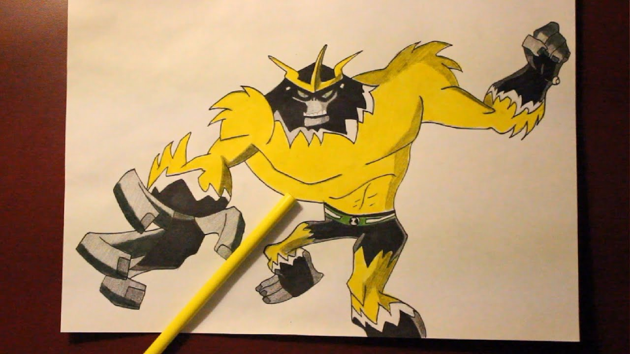how to draw ben 10 watch step by step
