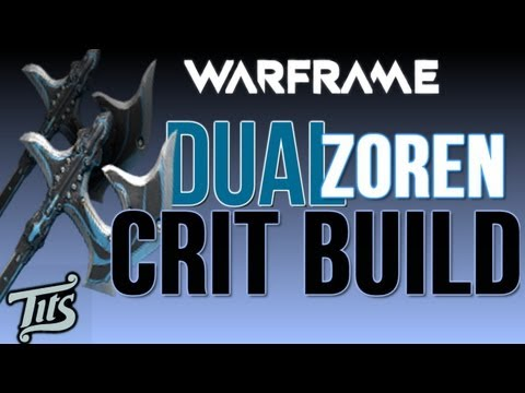 Warframe ♠ 8.1 - Recommended best crit melee build Dual Zoren w/ gameplay - Tips.Tutorial.Guide