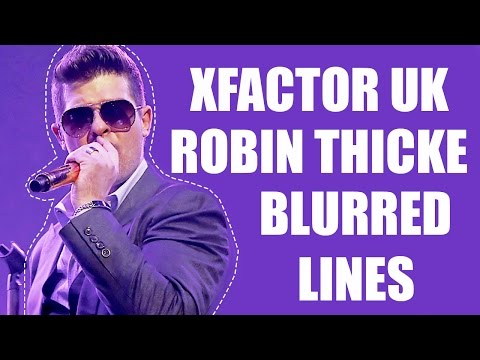 Robin Thicke Performing 'blurred Lines' On The X Factor Uk 10 20 2013 video