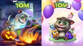 New UpDate My Talking Tom vs My Talking Tom 2 - Halloween - Android Gameplay