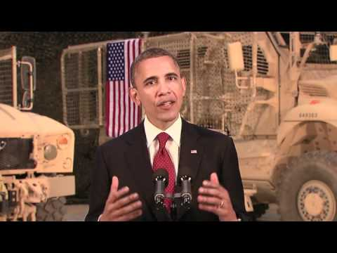 President Barack Obama Afghanistan Speech From Bagram Air Base - Ending the War in Afghanistan