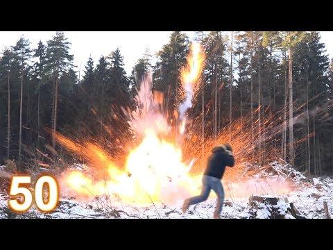 Взрываем 50 самых мощных петард России !
