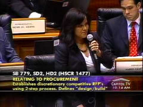Rep. Kymberly  Pine Addresses SB779 - Relating to Procurement