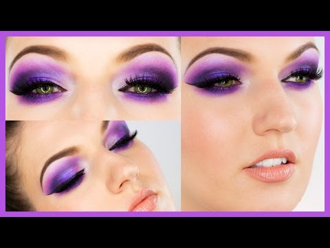Ultra Violet Smokey Eye Makeup