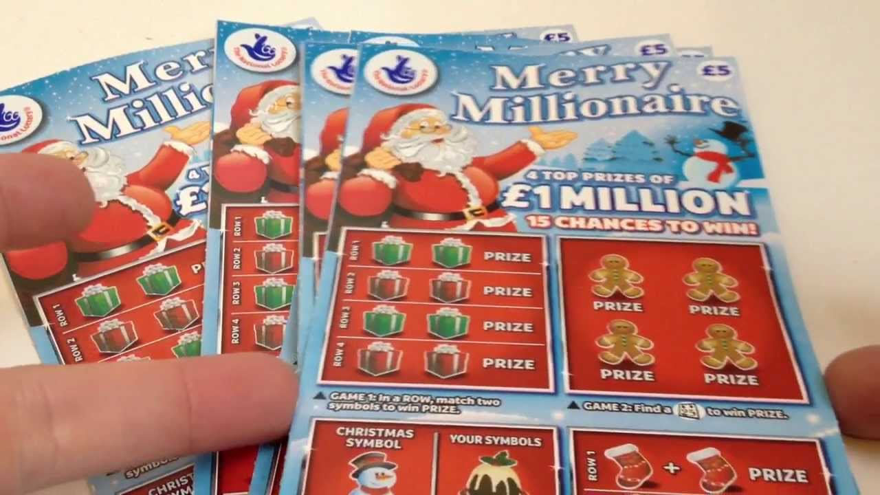 National Lottery Scratchcards Merry Millionaire Day 1