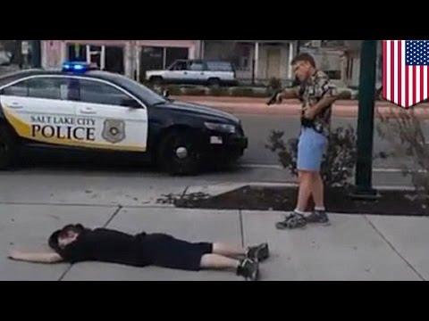 Man with gun: ex-cop stops man with knife in Salt Lake City, Utah