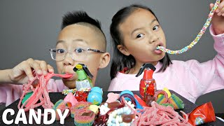 CANDY *Nerd Rope, Earth Gummy, Sour Boom Candy Mukbang | N.E Let's Eat