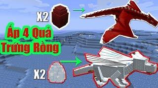 Minecraft Đảo Rồng SS2 #11 :Ấp 4 Quả Trứng Rồng Và Cuộc Hành Trình Sinh Tồn Mới
