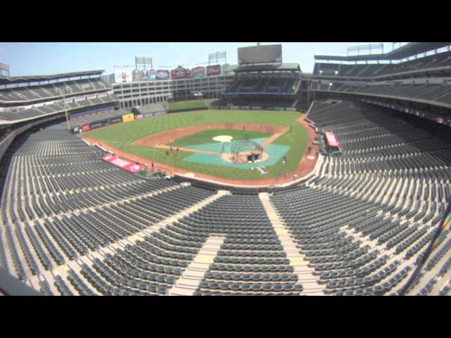 Texas Rangers Baseball Time Lapse