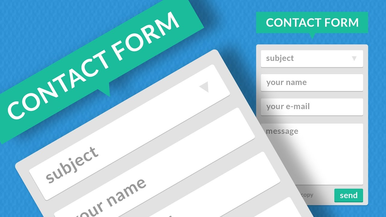 Дизайн для contact form 7