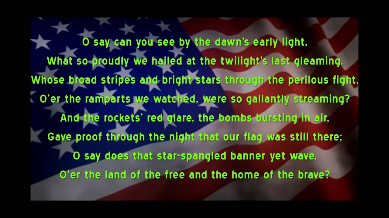 Star Spangled Banner U S National Anthem A Capella