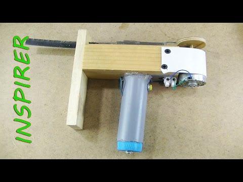 как сделать мини электролобзик  своими руками / How to make a Powerful Mini JIGSAW