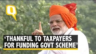 Narendra Modi's Independence Day Speech: PM Commends Honest Taxpayers of India | The Quint