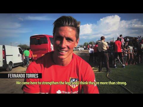 Fernando Torres about pre season training in Los Ángeles de San Rafael