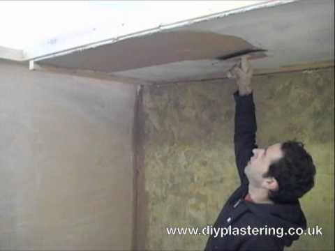 How To Plaster A Ceiling Youtube
