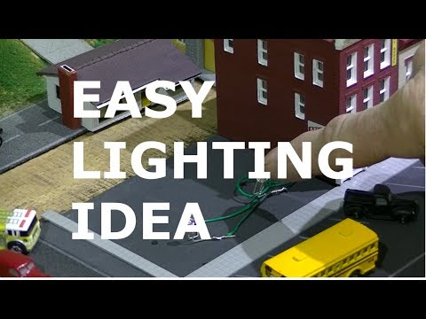 WIRING LIGHTS WITH COPPER FOIL TAPE FOR MODEL RAILROAD