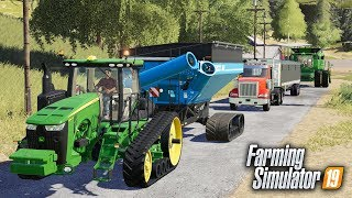 FS19- CUSTOM HARVEST CREW IS A ROLLING! 3 NEW HIRED HANDS JOINED THE CREW | #5