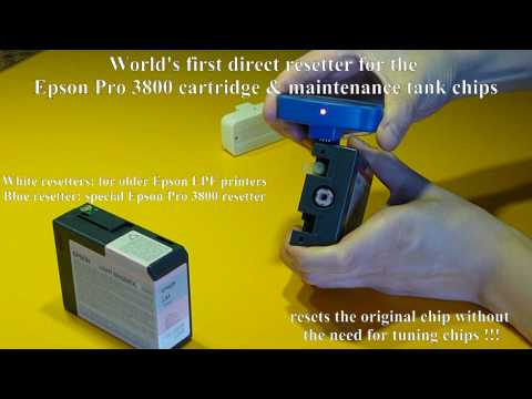 Resetter for the Epson Pro 3800 maintenance & cartridge chips