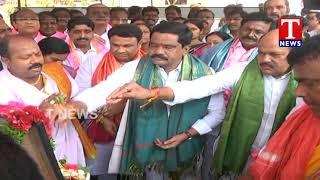TRS Leaders Performs Bhoomi Pooja For TRS Office Buildings | Telangana  Telugu