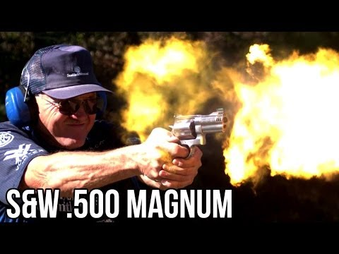 S&W .500 MAGNUM RECORD 5 shots in 1 SECOND in high speed with Jerry Miculek