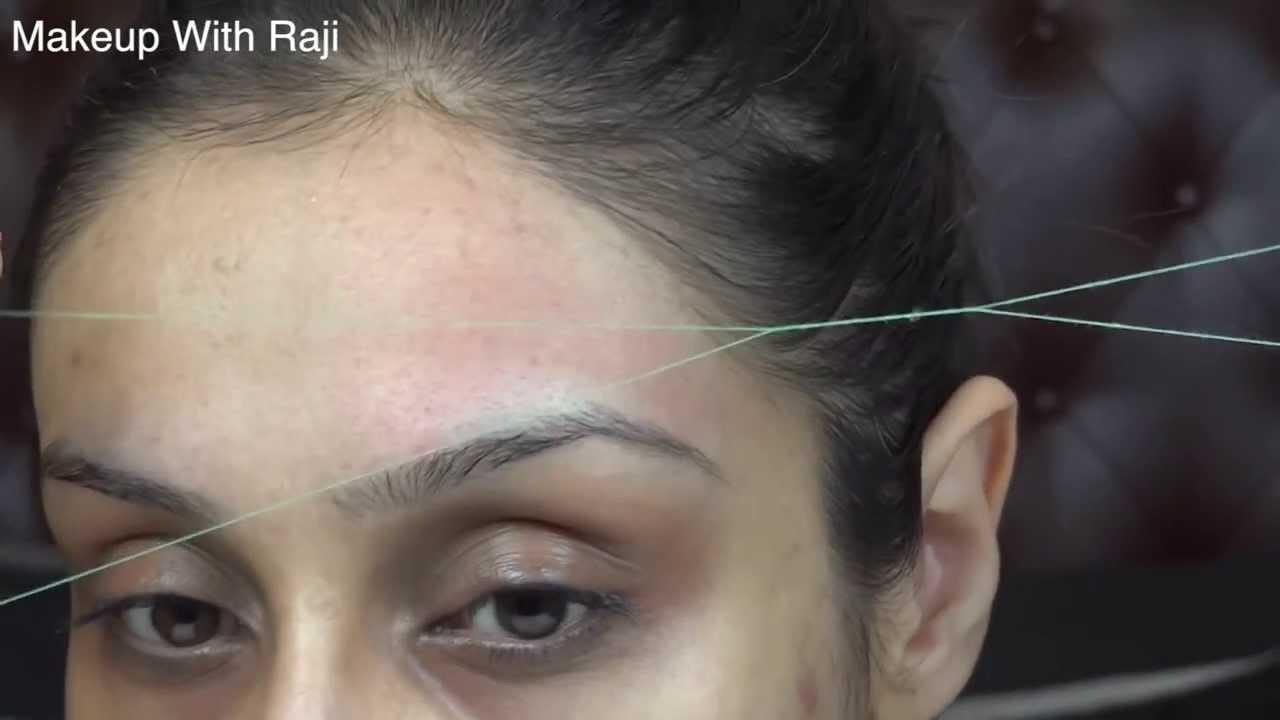How To Thread The Forehead Amp Shape The Hair Line Raji
