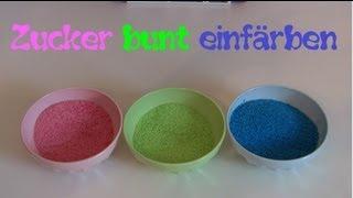 Sand einfärben