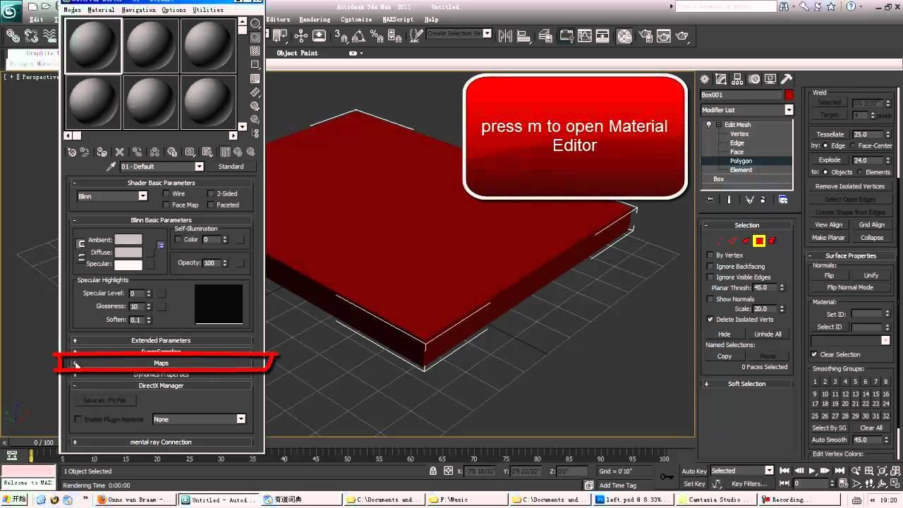 3ds max basic practice make a quick mirror reflection