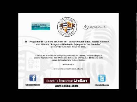 """38° Programa de """"La Hora del Maestro"""", con el tema: """"Programa Blindando Zapopan en las Escuelas"""""""