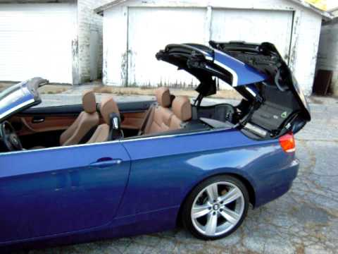 Bmw 335i Convertible Roof Opening Sequence Youtube