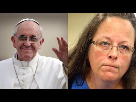 Pope Francis: Kim Davis Has 'Human Right' To Deny Gays Marriage