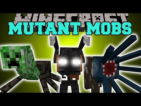 Minecraft: MUTANT MOBS INSANE NEW BOSS FUNNY MOBS WITH SPECIAL ABILITIES Mod Showcase