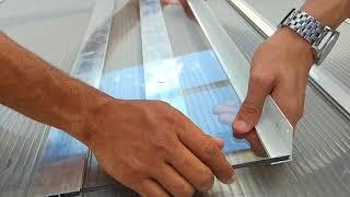 Como instalar uma cobertura de Policarbonato compacto 6 mm em Pergolado de madeira -Polysolution