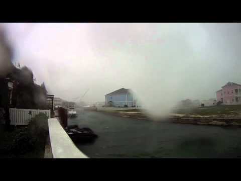 Hurricane Irene 2011, Bahamas, 8.15am