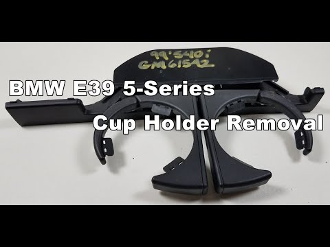 BMW - DIY Front Cup Holder Removal M5 540i 530i 525i
