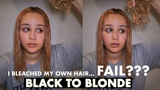 I BLEACHED MY HAIR....FAIL??? | BLACK TO BLONDE AT HOME!!!