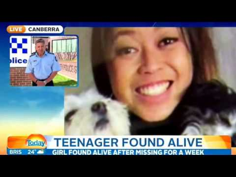 Canberra teen survived on creek water for seven days after her car rolled down an embankment