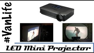 VanLife - Movie Night - LED mini projector in your Van, Camper, Motorhome, RV