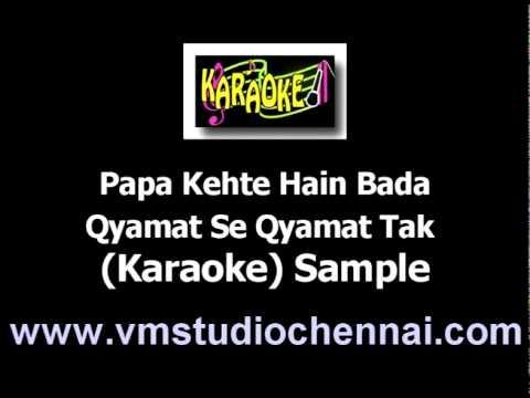 Hindi Karaoke Papa Kehte Hain Bada - Qyamat Se Qyamat Tak video