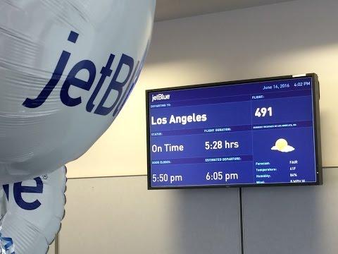 On board JetBlue's Inaugural Bufffalo to Los Angeles