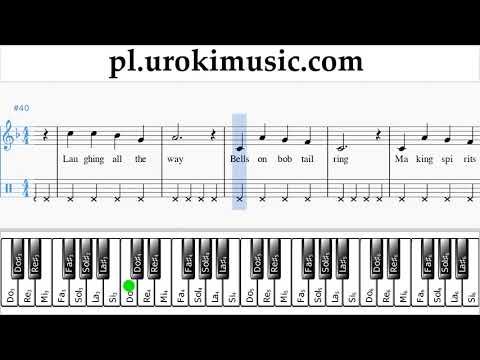 Nauka Gry Na Fortepianie (prawa Ręka) Jingle Bells Nuty Poradnik Um-b463