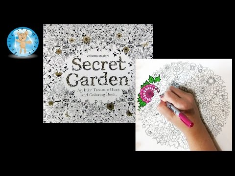 Secret Garden by Johanna Basford Adult Coloring Book Flowers Nature - Family Toy Report