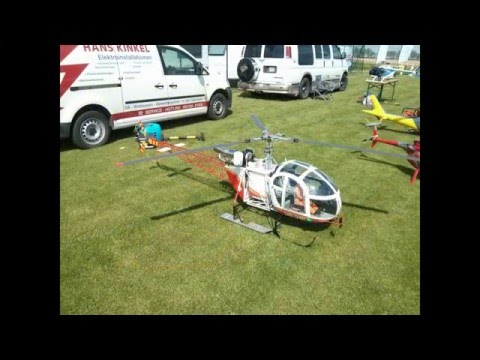 Some Big RC Helis and a Jet Lama flying around