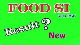 WBPSC Food SI Result Date | Food SI Cutoff 2019 | Food Sub Inspector Cutoff | by HK Media |#foodsi